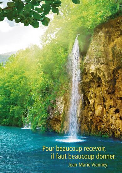 Carte Citation Cascade se jetant ds rivière