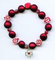 Bracelet dizainier rouge  .