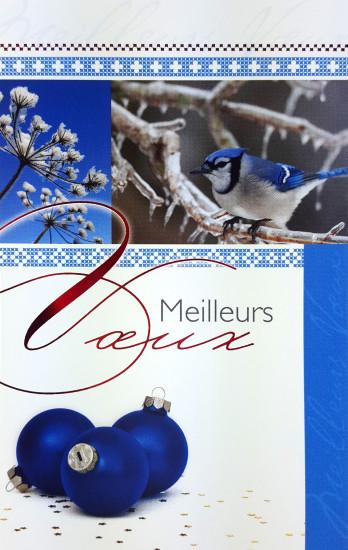 Mignonnette Mv Oiseau et boules bleues.