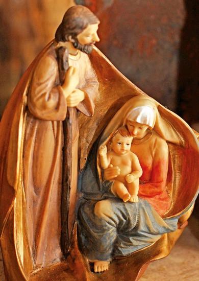 Carte Fin D'année Sans Texte Sainte famille.