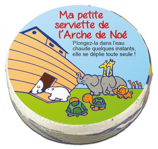 Serviette compactée Arche de Noé