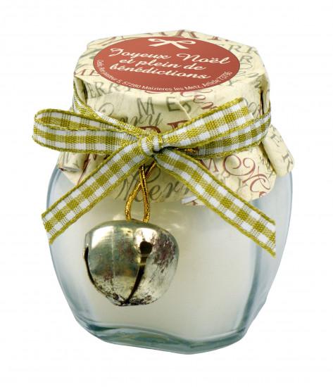 Bougie parfumée vanille avec grelot 6 cm.
