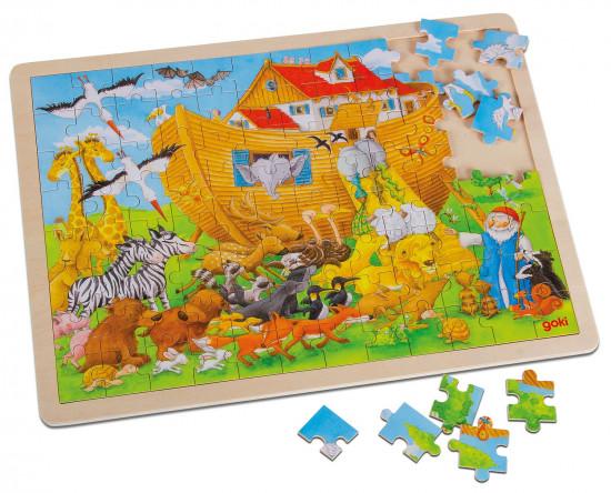 Puzzle bois : l'Arche de Noé. 96 pièces
