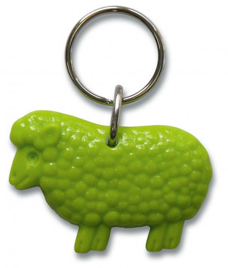 Porte-clé mouton Ps 23  vert 5 cm