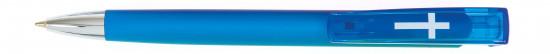 Stylo Croix  bleu clair encre bleue