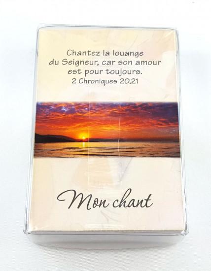 Lot 100 Mini-cartes avec verset : Dieu est avec moi