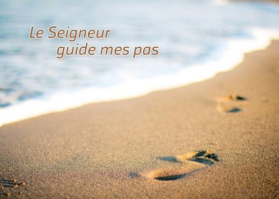 Minicarte Pas dans le sable sur la plage