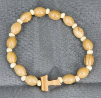 Bracelets perles ovales en olivier