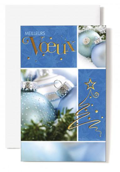 Mignonnette Mv Boules bleues et vertes.