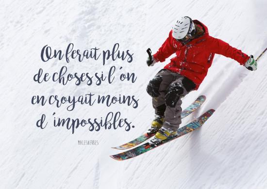 Carte citation Freerider en skis