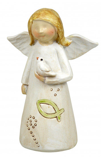 Figurine Ange et Colombe