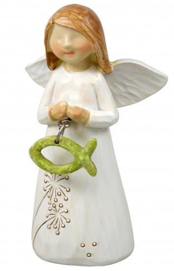 Figurine Ange et Ichtus