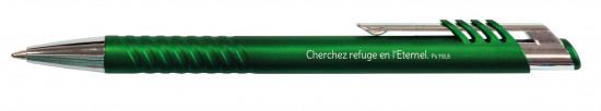 Stylo Elia vert métallique Ps 118, 8