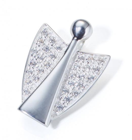 Pendentif ange en argent et cristaux Zirkonium
