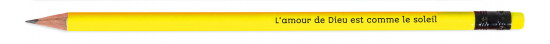 Crayon de papier jaune fluo.