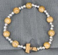Bracelet perles rondes en olivier