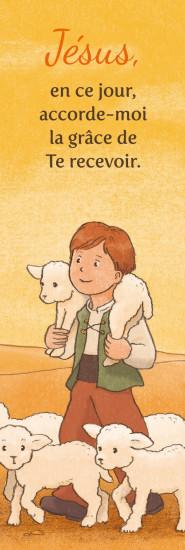 Signet Jeune berger avec ses brebis
