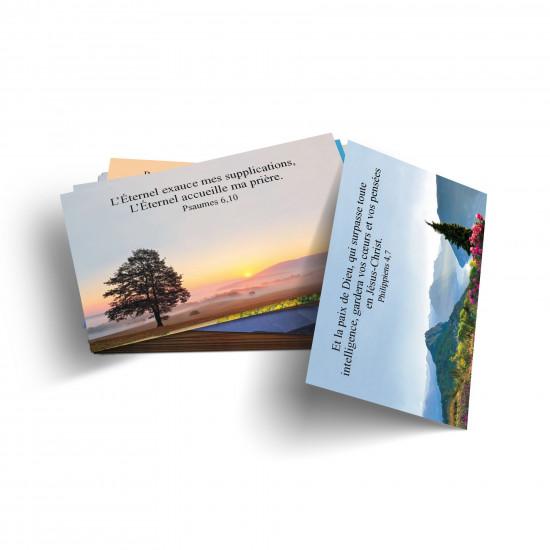 Lot 100 Mini-cartes avec verset : Dieu me garde