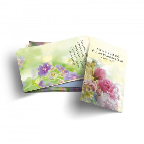 Lot 100 Mini-cartes avec verset : Célébrez Dieu