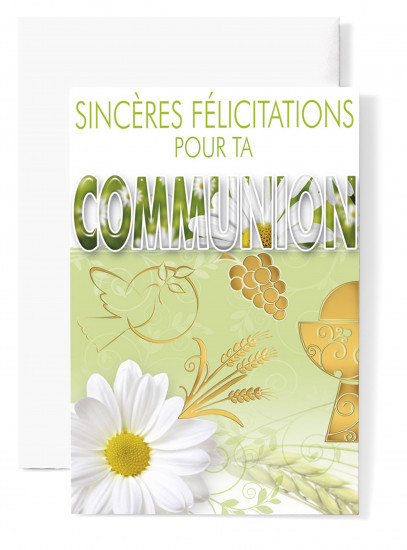 Mignonnette Communion. Colombe, coupe, raisin, blé - Lot de 5