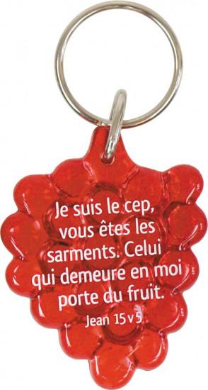 Porte-clés grappe de raisin rouge