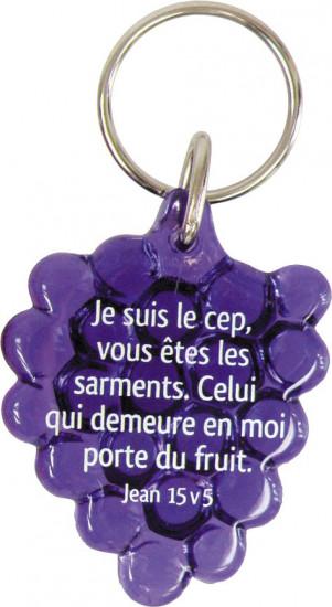 Porte-clés grappe de raisin violet