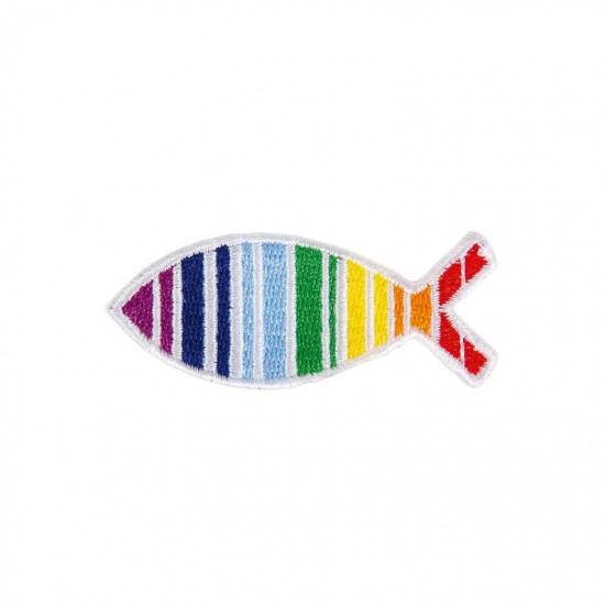 Ecusson à repasser Ichtus multicolor.