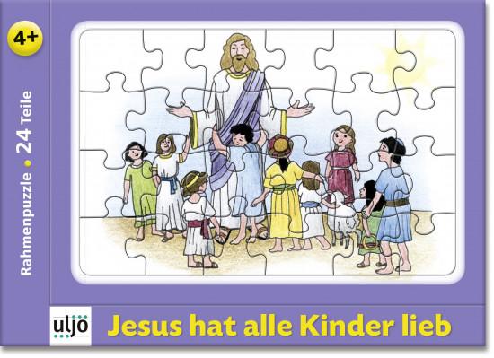 Mini-puzzle «Jésus aime tous les enfants»