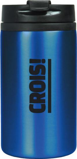 Mug isotherme acier inoxidable bleu «Crois !»