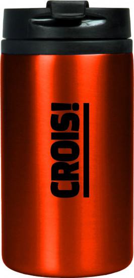 Mug isotherme acier inoxidable rouge «Crois !»