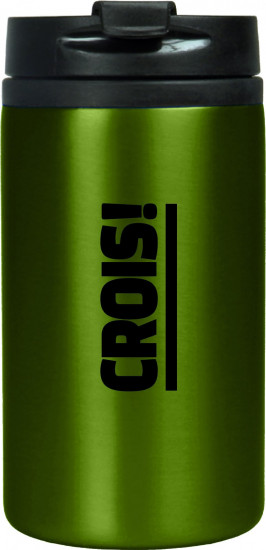 Mug isotherme acier inoxidable vert «Crois !»