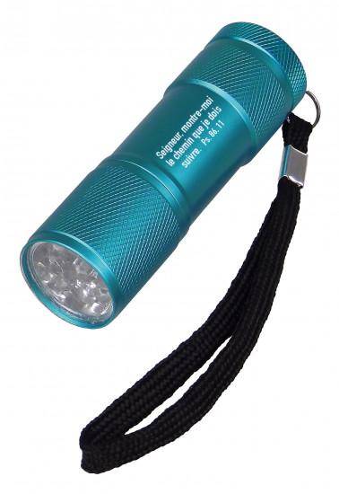 Lampe de poche LED en métal bleue Ps 86:11