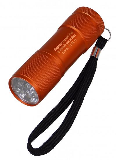 Lampe de poche LED en métal orange Ps 86:11