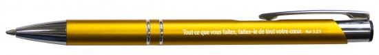 Stylo métal jaune «Josué»