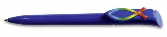 Stylo «Icthus» bleu