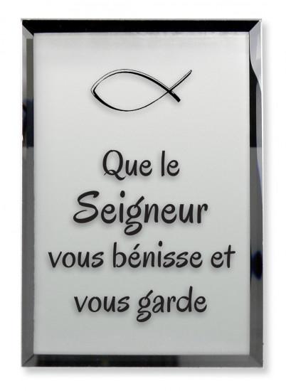 Tableau miroir «Que le Seigneur vous bénisse et vous garde»