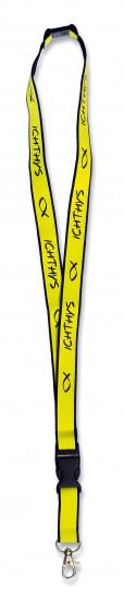 Dragonne tour-de-cou Ichthys jaune fluo