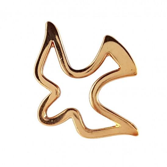 Pin's colombe évidée, plaqué or, 1,7x 2,2 cm