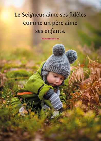 MINI POSTER : Enfant jouant dans la nature en automne