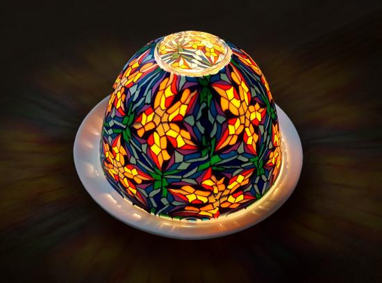 Lanterne multicolore «Chagall»