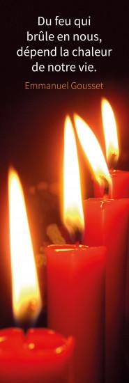 Signet  bougies rouges