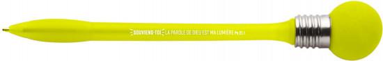 Stylo à bille avec globe clignotant jaune Melchior