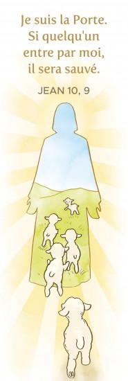 Signet Silhouette de Jésus et brebis.