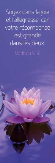 Signet Fleur de nénuphar sur l'eau