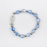 Bracelet Ichtus perles semi-cristal.