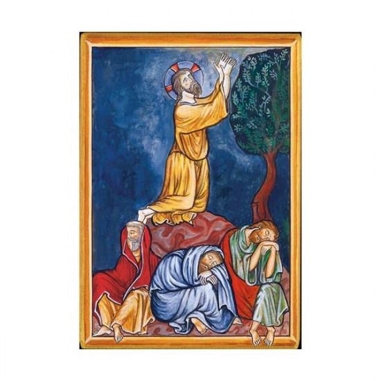 Icône de l'Agonie de Notre-Seigneur. Disponible en 1 taille avec tranche dorée