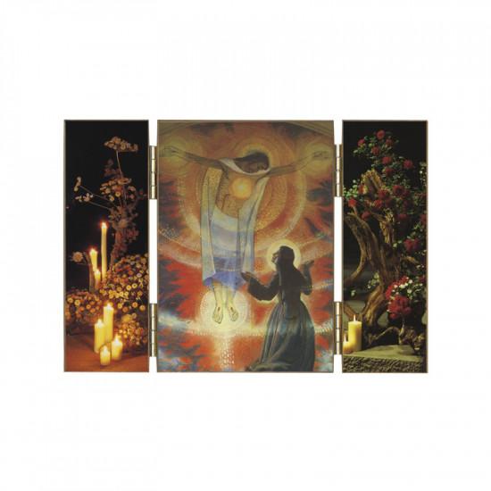 Triptyque Apparition du Christe à Sainte Marguerite Marie