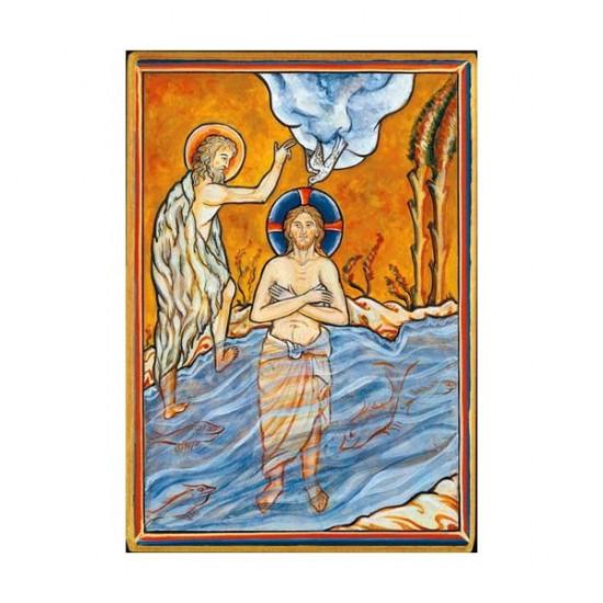 Icône Baptême de Notre Seigneur. Disponible en 2 tailles avec tranche dorée.