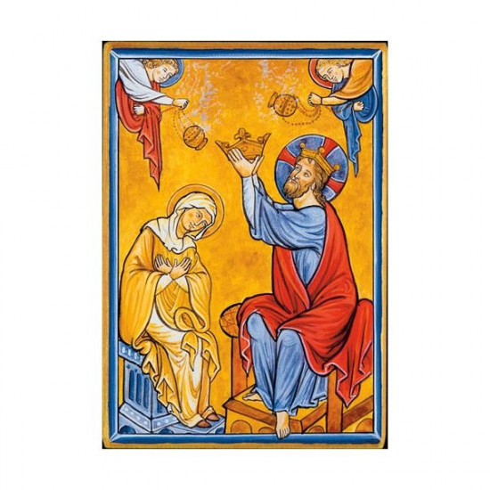 Icône  Couronnement de Notre-Dame. Disponible en 2 tailles avec tranches dorée.