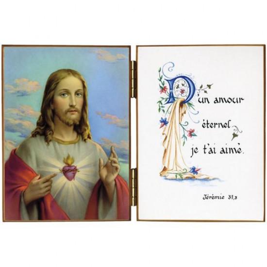 Diptyque  : Le Divin Cœur de Jésus